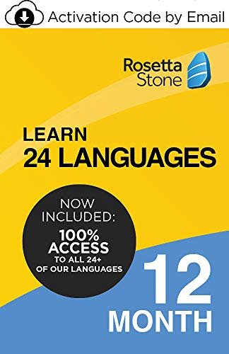 Rosetta Stone: Learn UNLIMITED Languages - Learn 24 Languages | 1 User | 12 Months | PC/Mac | Activation Code by email