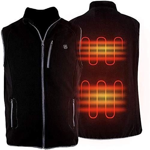 ZBHGF verwarmingsvest, elektrisch, infrarood, USB, radiator, verwarmingskussen voor de grootte van de hals (accu niet inbegrepen) voor jacht, skiën, wandelen, kamperen, modus 5, verstelbaar