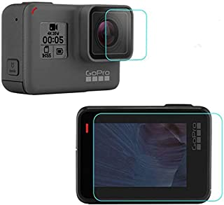 M.G.R.J Pro HD+ Tempered Glass for GoPro Hero 5, 6, CHDHX-701-RW 7 Black, Sports and Action Camera 2018 (Front/Back)