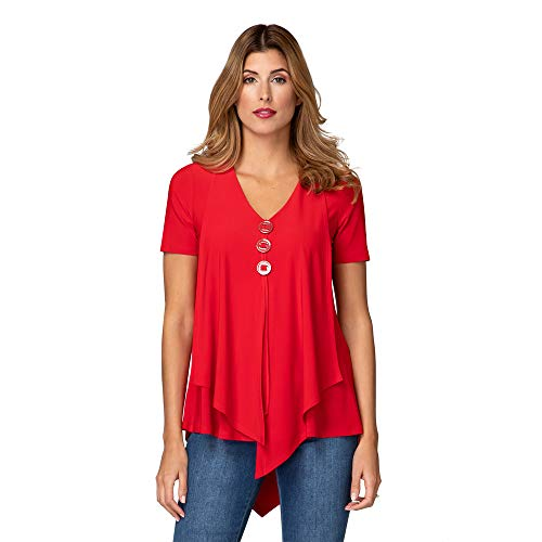Joseph Ribkoff Damen Bluse Größe 38 EU Rot (rot)