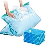CLEVHOM 真空圧縮袋 8枚入(80*100cm4枚入 56*80cm4枚入)衣類圧縮袋 布団圧縮袋 服 枕 タオル 枕収納 省スペース