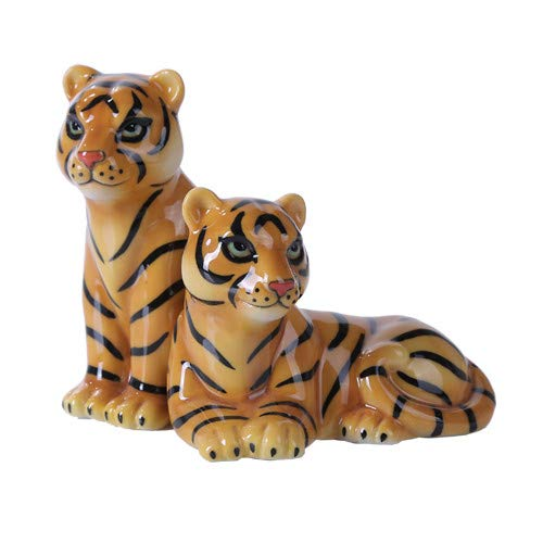 Pacific Giftware 4.75 inches Mr. and Mrs. Tiger Magnetic Salt and Pepper Shaker Kitchen Set
