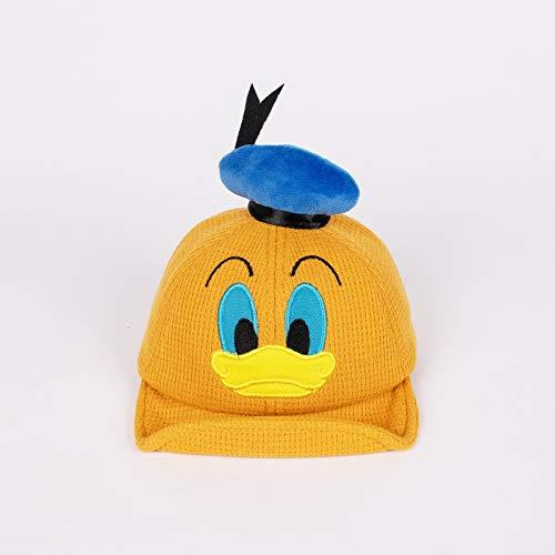 Versión Coreana del Sombrero para niños de otoño e Invierno clásico Pato de Dibujos Animados Gorra de bebé de ala Suave Versión Coreana de Sombrero de bebé cálido de algodón Puro
