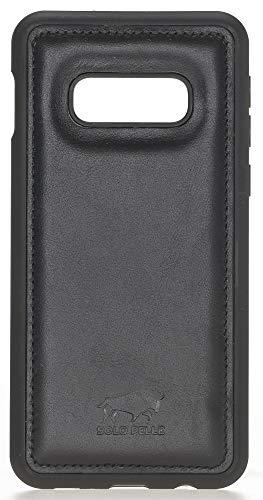 Solo Pelle Lederhülle für das Samsung Galaxy S10e Hülle, Schutzhülle aus echtem Leder, Model: Stanford in Schwarz