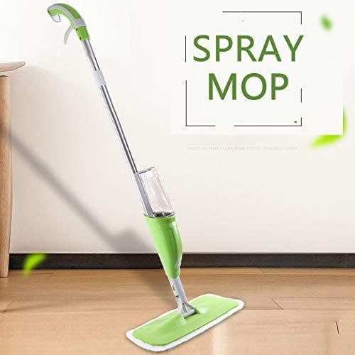 MYJZY Spray Mop, 360°Spin Mop, Vloer Scrubber,Wet Droge Microvezel Flat Mop Polijstmachines voor Tegel Hardhout Vloer Reiniging met 2 Mop Pads Schraper