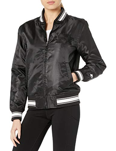 Starter Women's Insulated Bomber Jacket, Amazon Exclusive, Black, Medium