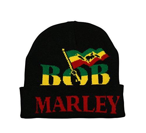 UD Accessories Généralement de Bonnet Bob Marley Rasta en Noir/Vert/Jaune/Rouge