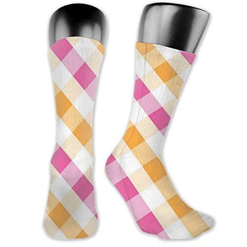 Papalikz Compression Medium Calf Socks,Geometric Arrangement Diagonal Stripes Design Traditional Style Motifs Illustration