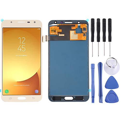 Pantalla LCD Pantalla LCD y ensamblaje Completo del digitalizador (Material TFT) para Galaxy J7 Neo / J701 (Color : Gold)