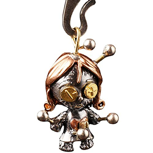 925 Silver Voodoo Doll Pendant with Movable Joints Necklace (1Pcs)