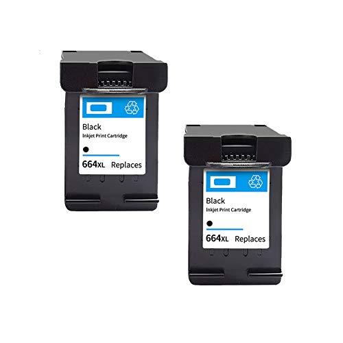 SSBY Reemplazo de Cartucho de Tinta remanufacturado para HP 664 664XL, para Usar con Deskjet Ink Advantage Deskjet 1115 1118 2135 2136 2138 2675 Cartucho de Tinta de Alto Rendimiento de página-2black