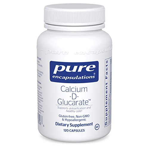 Pure Encapsulations Calcium-D-Glucarate   Supplement to Support Cellular Health in The Liver, Prostate, Lungs, Breast, and Colon*   120 Capsules