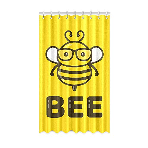 Rtosd Rideaux occultants pour Enfants travaillant Dur Little Honey Bee Chambre Rideaux de fenêtre occultants 50 X 84 Pouces Une pièce pour Patio Coulissant Porte en Verre/Chambre