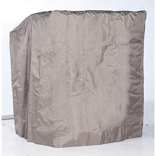 Sonnenpartner Strandkorb Schutzhülle taupe 2-Sitzer - mittelschwere Ausführung