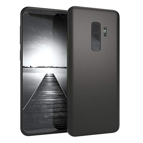 EAZY CASE Handyhülle Silikon mit Kameraschutz Samsung Galaxy S9 Plus in schwarz matt, Ultra dünn, Slimcover, Silikonhülle, Hülle, Softcase, Backcover