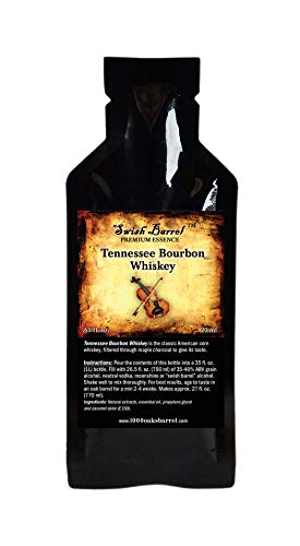 Tennessee Bourbon Whiskey Premium Essence | Bootleg Kit Refills | Thousand Oaks Barrel Co. | Gourmet Flavor for Cocktails Mixers and Cookery | 20ml .65oz