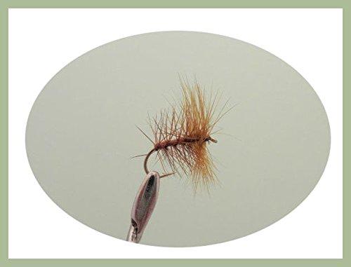 Lot de 12Marron Palmer mouches sèches de pêche....