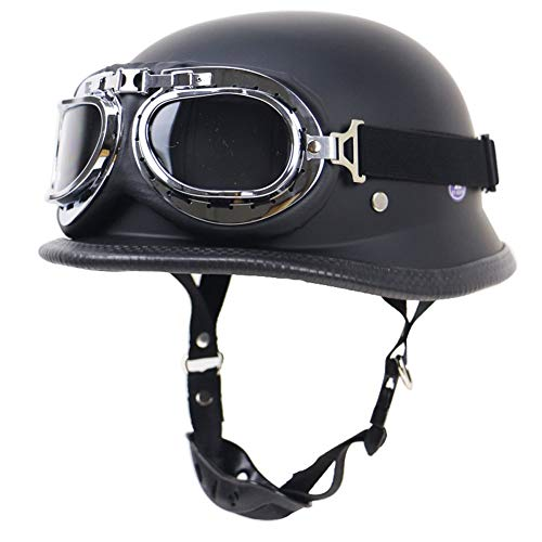 Casco de motocicleta de cara abierta, medio casco aprobado por el DOT,casco de protección de media cara,casco retro de media carcasa para hombres y mujeres,cascos de calle para patinetas para adultos