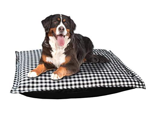Milanino Hundebett für große , mittlere und kleine Hunde | bequeme Hundekissen Tierkissen waschbar | XXL Tierbett Katzenbett Dog Bed Hundematratze Schlafplatz | (Groß)