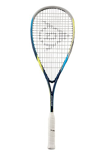 Dunlop Squash Racket Biomimetic Evolution 130 HL, Schwarz/Blau/Gelb, One Size