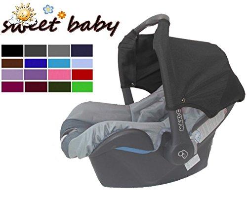 Sweet Baby ** SCHWARZ ** Universal Verdeck / Dach für Maxi Cosi Citi SPS Babyschale Gruppe 0+ als Sonnenschutz / Windschutz / SonnenDach / Sonnenverdeck