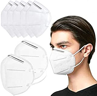 SIAMO® High qaulity 5 layer KN95 mask Cotton Mouth Nose Cover Unisex Anti-Pollution Clothe Mask CE FDA Certified[ PACK OF 3]