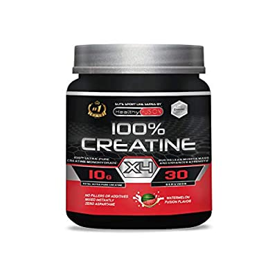 100% CREATINE X4 - Pure Microfiltered Creatine + Vitamin B6 - The Only 100% Pure Creatine - Watermelon Flavour - Boosts Muscle Growth and Resistance - 30 Servings. by Fersa Ibérica