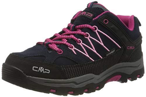 CMP Unisex-Kinder Kids Rigel Low Shoes Wp Trekking- & Wanderhalbschuhe, Blau (B.Blue-Rose 80bn), 33 EU