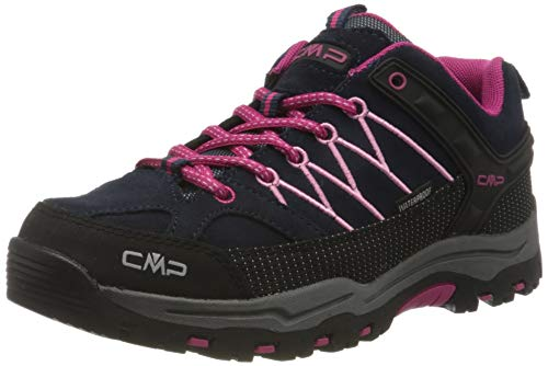 CMP Unisex-Kinder Kids Rigel Low Shoes Wp Trekking-& Wanderhalbschuhe, Blau (B.Blue-Rose 80bn), 35 EU