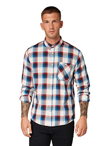 TOM TAILOR voor mannen blouses, shirts & overhemden geruit hemd