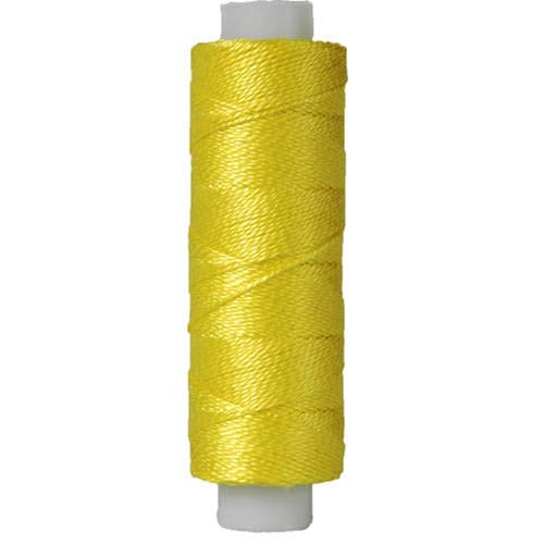 Threadart Pearl Cotton Thread | 75yd Spools Size 8 | Perle Cotton for Friendship Bracelets, Crochet, Hardanger, Cross Stitch, Needlepoint, Hand Embroidery | Color 307 - LEMON - 40 Colors Available