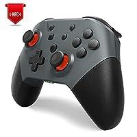 Switch コントローラー【最新型】 Maxku NFC機能 ワンキーウェイクアップ機能 TURBO連射速度調整機能 HD振動強度調整機能 Switch Pro コントローラー Amiiboに対応できます 小型6軸ジャイロセンサー搭載 Bluetooth(5.0)接続 Nintendo スイッチの全てシステムに対応 高耐久ボタン 日本語取扱説明書付き
