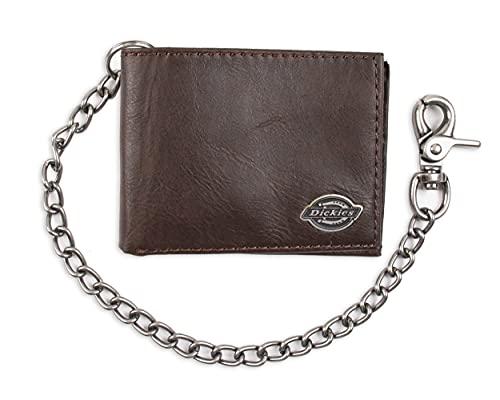 Dickies Herren-Portemonnaie mit doppelter Kette, hohe Sicherheit, mit Ausweisfenster und Kreditkartenfächern