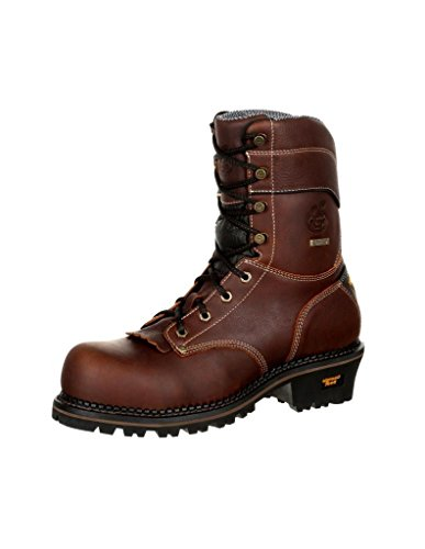 Georgia Men's Boot Amp Lt 9' Waterproof Logger Round Toe Brown 9.5 D