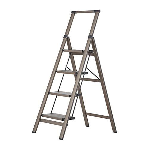 Escalera De Mano De Aleación De Aluminio Ultraligera Para El Hogar, Escalera De 4 Escalones Para Exteriores, Escaleras De Mano Portátiles Antideslizantes, Escaleras De Ingeni(Size:49*84*140CM,Color:A)