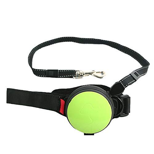 TFWJ Geschirr Hund Leine Handgelenk Verknüpfung Mit Reflektierend Sicherheit Gehen Joggen Nylon,Green