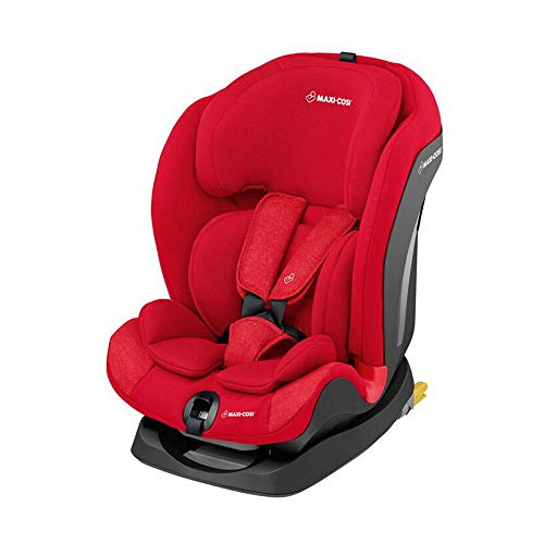 Maxi-Cosi Titan mitwachsender Auto-Kindersitz 9-36 kg mit Isofix und Liegeposition, nutzbar ab 9 Mon. bis 12 J., Nomad Red (rot)