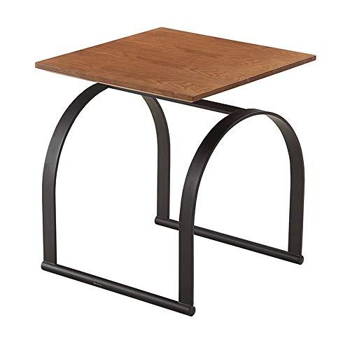 Tables HAIZHEN Pliable Basse de comptoir en Bois Massif de d'appoint de Forme Unique, 50 * 50 * 56cm Stations de Travail informatiques