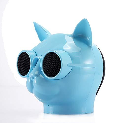 Ronshin luidspreker Fashion Cool Cat Head draagbare luidspreker Wireless Bluetooth Stereo HD Bass Speaker Blue
