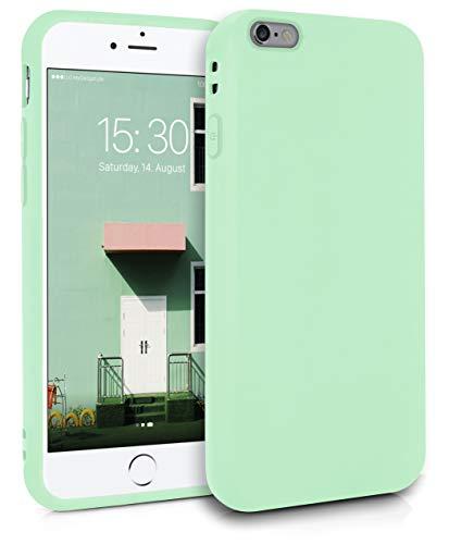 MyGadget Friendly Pocket Custodia TPU per Apple iPhone 6 Plus / 6s Plus - Case Morbida Bordi Rinforzati – Cover Silicone Antiurto e Graffio - Verde Chiaro