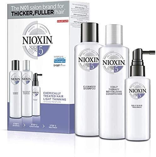 NIOXIN - Trial Kit de 3 pasos - Tratamiento para Cabello tratado con químicos ligeramente debilitado (Champú 150 ml - Acondicionador 150 ml - Tratamiento 50 ml) - Sistema 5