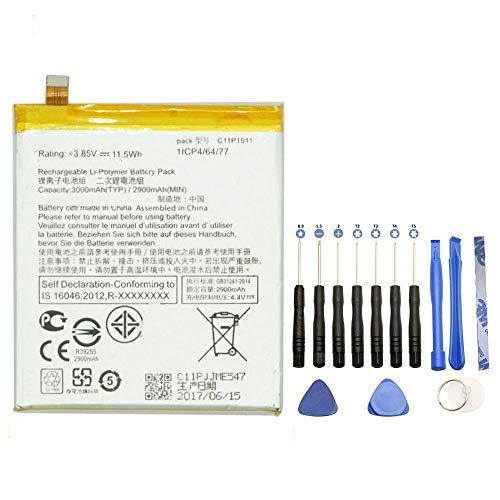 EspaceCyber® C11P1511 - Batería para Asus Zenfone 3 Z012DA ZenFone 3 ZE552KL ZenFone 3 Z012DE (incluye kit de herramientas)