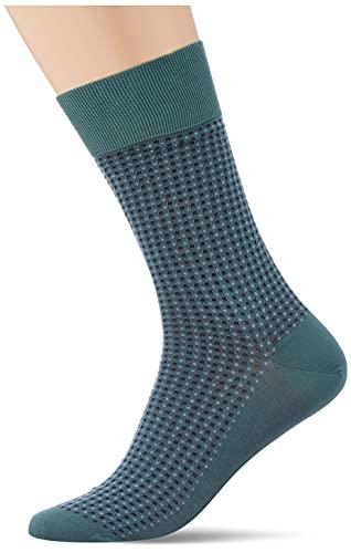 FALKE Herren Uptown Tie M SO Socken, Grün (Zircon 7343), 43-44