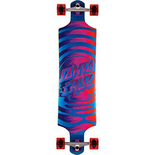 Santa Cruz Skateboard Dot Reflection Drop Down Cruzer Komplett-Skateboard, Mehrfarbig, 25,4 cm L x 101,6 cm W