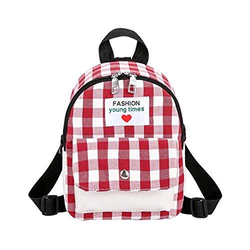 KaloryWee Karierte Streifen Rucksack Lady Bag Student Rucksack Mini rucksäcke Field Pack Freizeit Mode Kontrast Plaid Reiserucksack