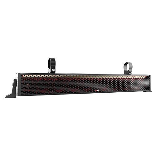 DS18 SBAR25 Black 25 Inch Hydro 25' 2-Way Sound Bar Waterproof Speaker System with Integrated RGB Lights-200 RMS-600 Watts Max-ATV UTV Jeep SXS Marine RZR