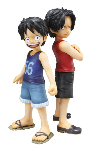 One Piece Excellent Model P.O.P PVC Figurine Statuette 2-Pack 1/8 CB-EX Monkey D. Luffy et Portgas D. Ace 12 cm