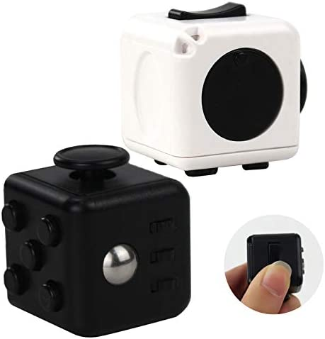 LAOZHOU 2 Pack Fidget Toy Cube Stress Relief Toy Cube Ball Hand Sensory Toys for Kids Adults product image