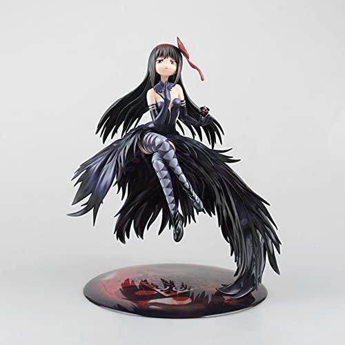 Magic Young Girl Madoka / Versión Grande De Demon Flame / Akemi Homura / Modelo De Personaje De Anime De PVC Estático Figura De Decoración De Niña Hermosa Colección Otaku Regalo En Caja H9.45 Pulgadas