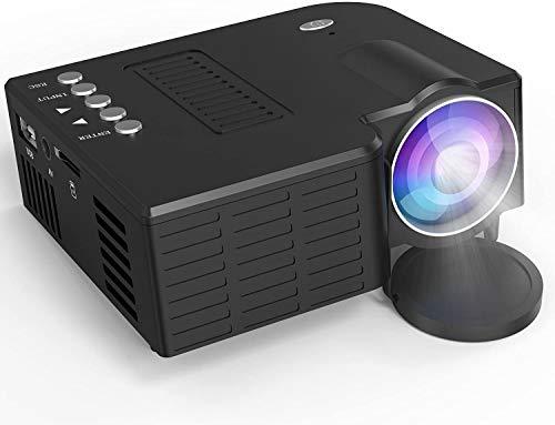 1800 Lumens LCD Mini Projector, Multimedia Home Theater Video Projector Ondersteuning van 1080P, HDMI, USB, VGA, AV for Home Cinema, tv's, laptops, Games, Smartphones dljyy